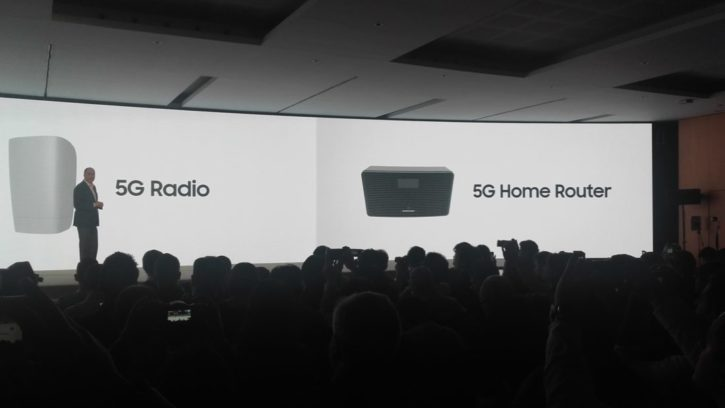 samsung mwc 2017 samsung conférence router 5g