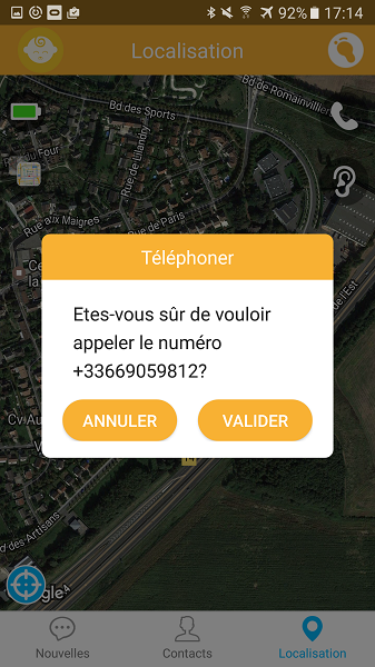 test utilisation application contact numéro montre Kiwip Watch