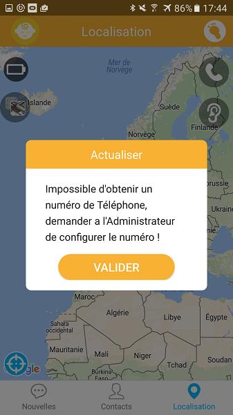 test utilisation application Kiwip Watch problème obtention téléphone