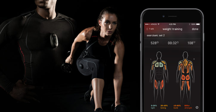 innovations objets connectes fitness athos training system