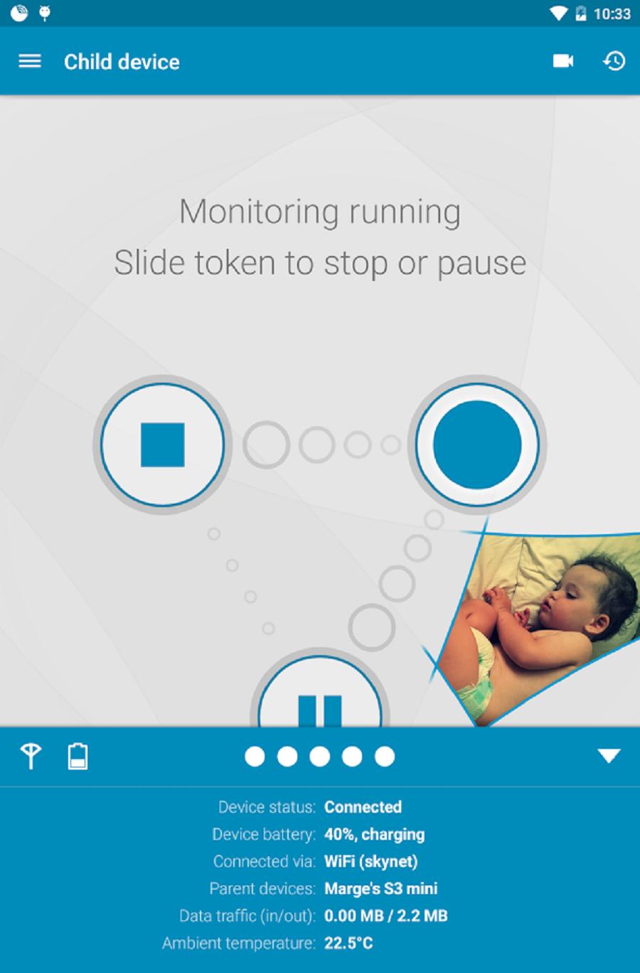 dormi application babyphone connecté