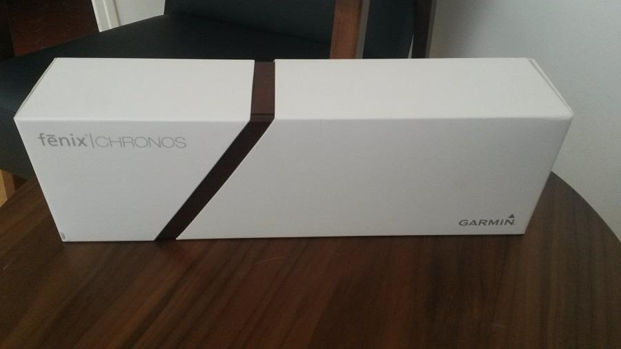 Test Montre Garmin Fénix Chronos Unboxing boite blanche