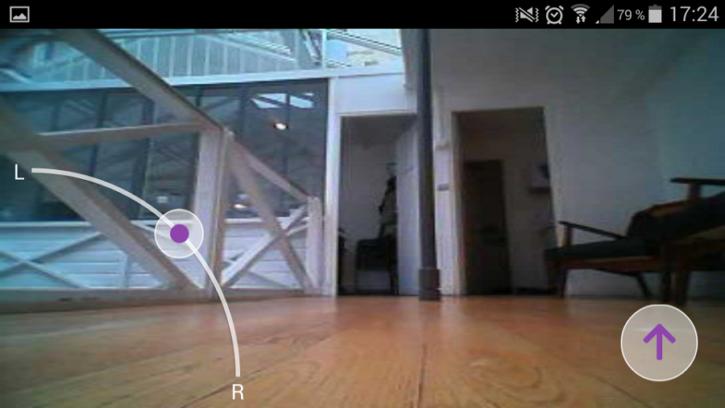 LG Hom-Bot Turbo plus application caméra en live