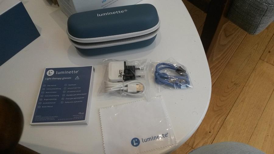 Luminette Unboxing Test accessoires