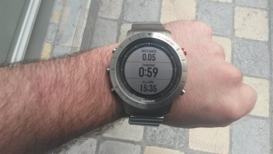 Test Montre Garmin Fénix Chronos utilisation course chronomètre