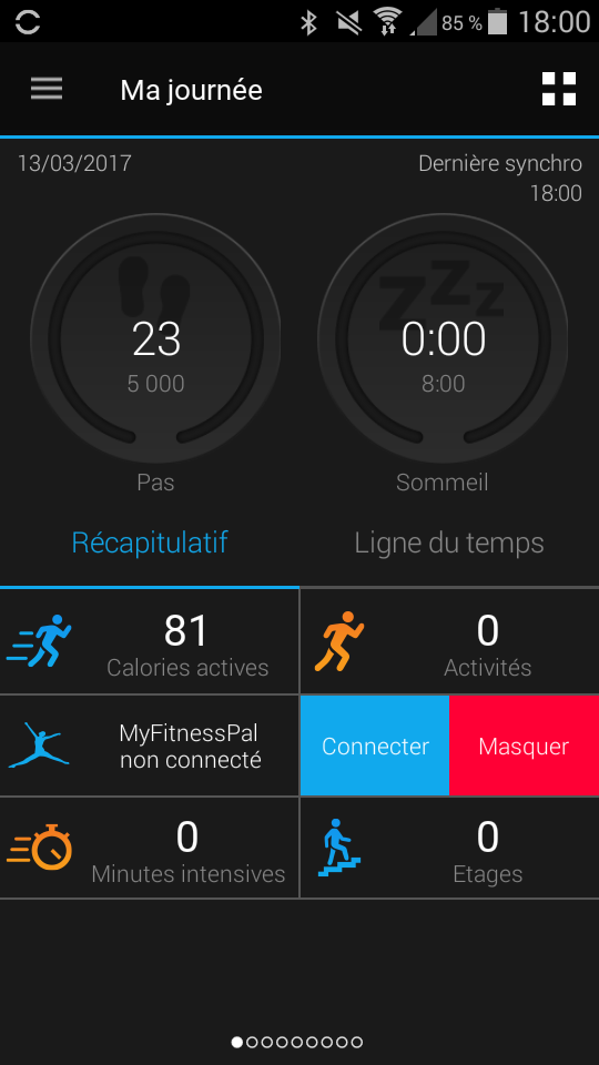 Test Montre Garmin Fénix Chronos Application interface sport