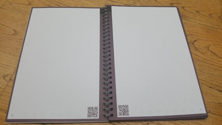 Test Unboxing Rocketbook One cahier ouvert pages spéciales