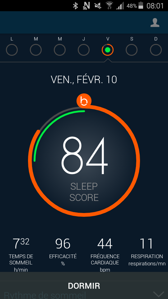 Test beddit 3 sleep tracker application sleep score