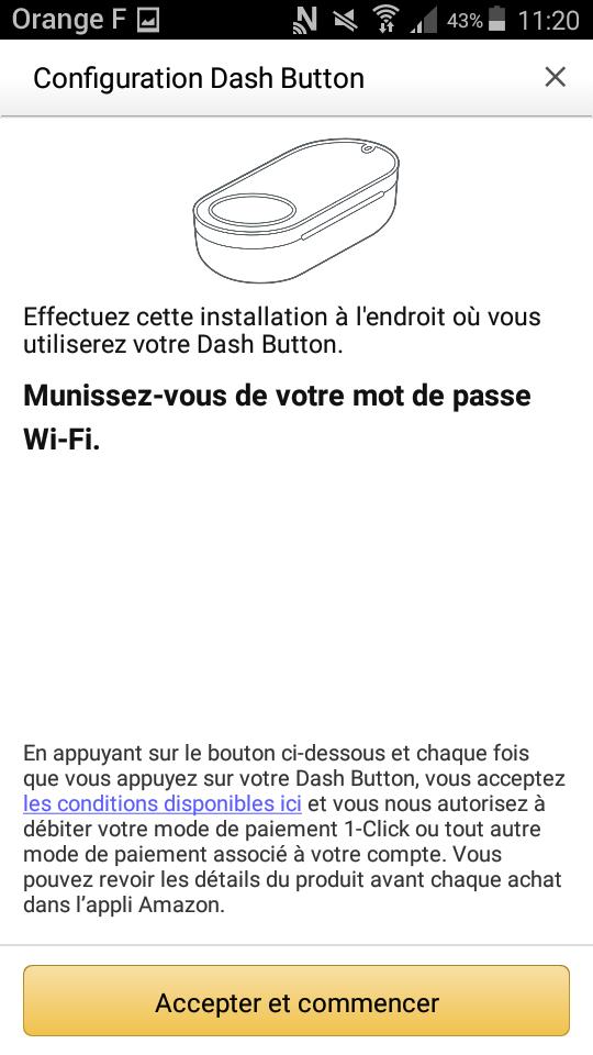 dash button amazon application configuration