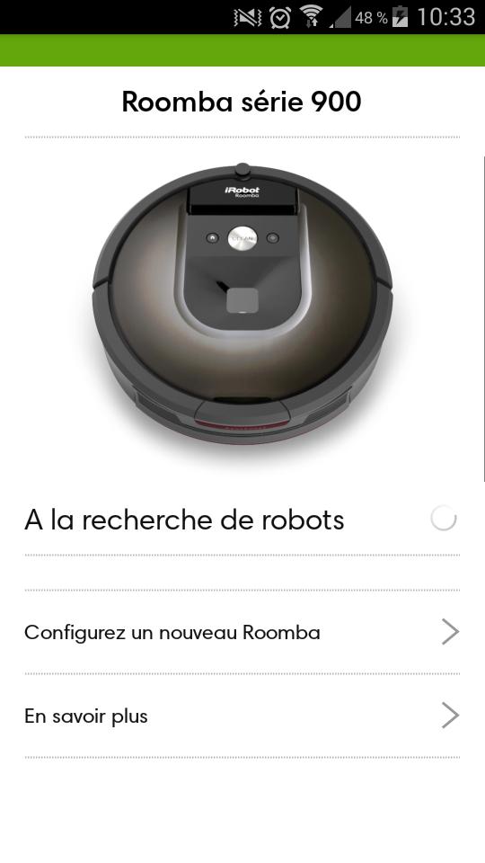 Test IRobot Roomba application installation