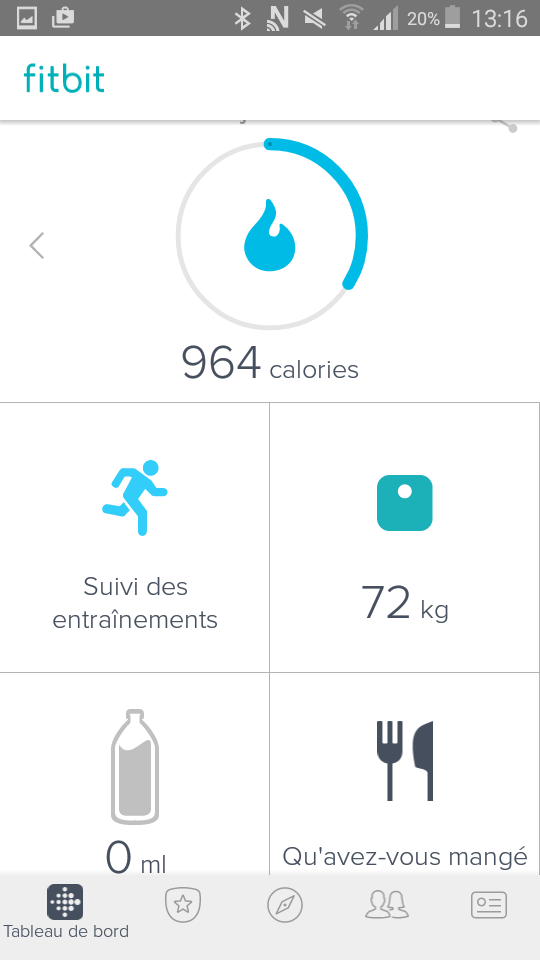 test fitbit alta hr application menu principal