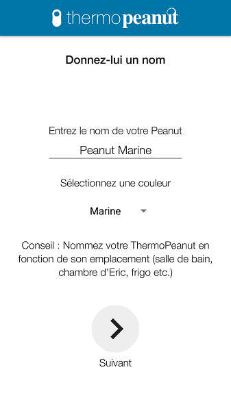 Test Application Thermopeanut Personnalisation Conseils