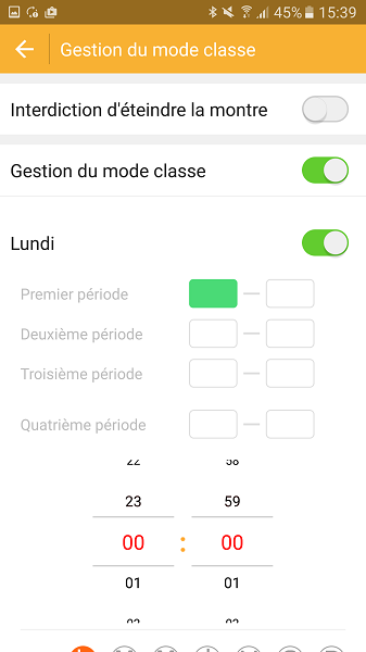 Test Application Kiwip Watch mode classe Lundi