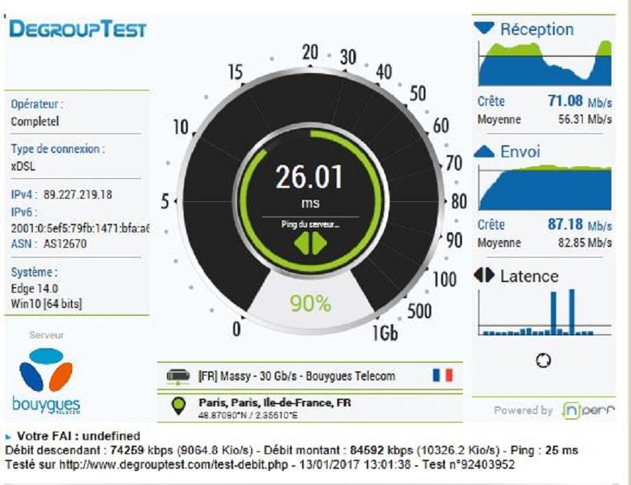 Test application Orbi netgear test réseau