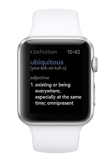 dictionnary applications apple watch