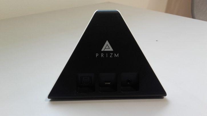 test prizm lecteur audio intelligent design ergonomie vue arriere