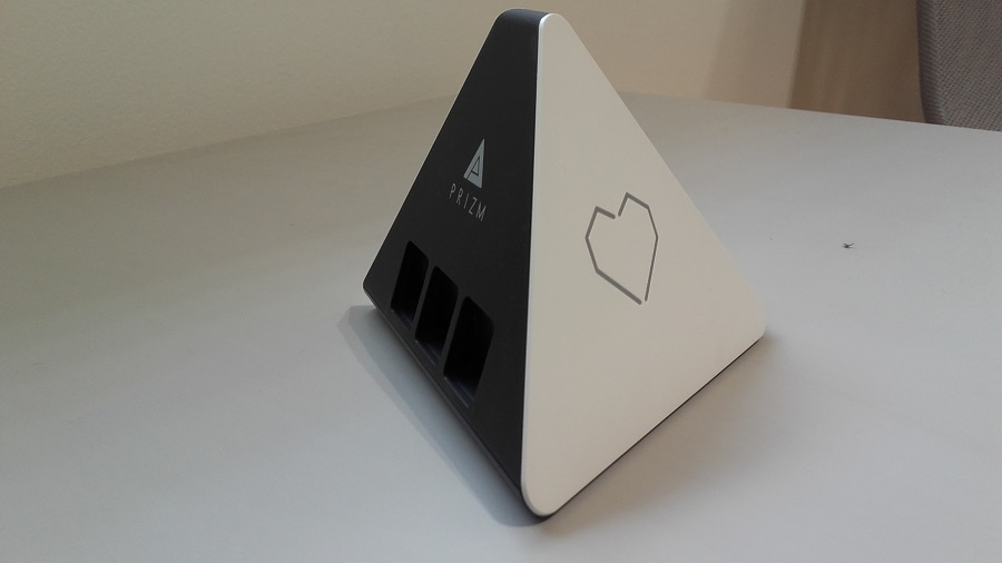 test prizm lecteur audio intelligent design ergonomie vue de droite
