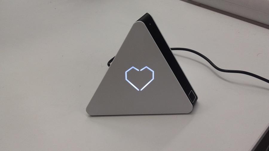 test prizm lecteur audio intelligent utilisation fonctionnalites bouton coeur
