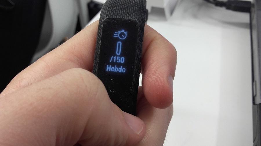 test garmin vivosmart 3 bracelet connecte utilisation temps activite actif