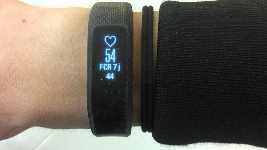 test garmin vivosmart 3 bracelet connecte utilisation rythme cardiaque