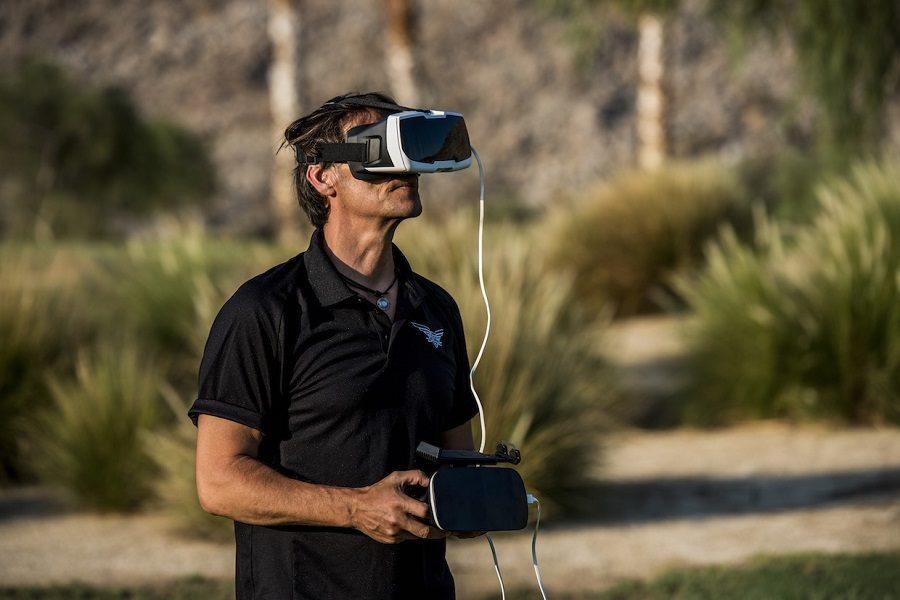 drone avec réalité virtuelle parrot