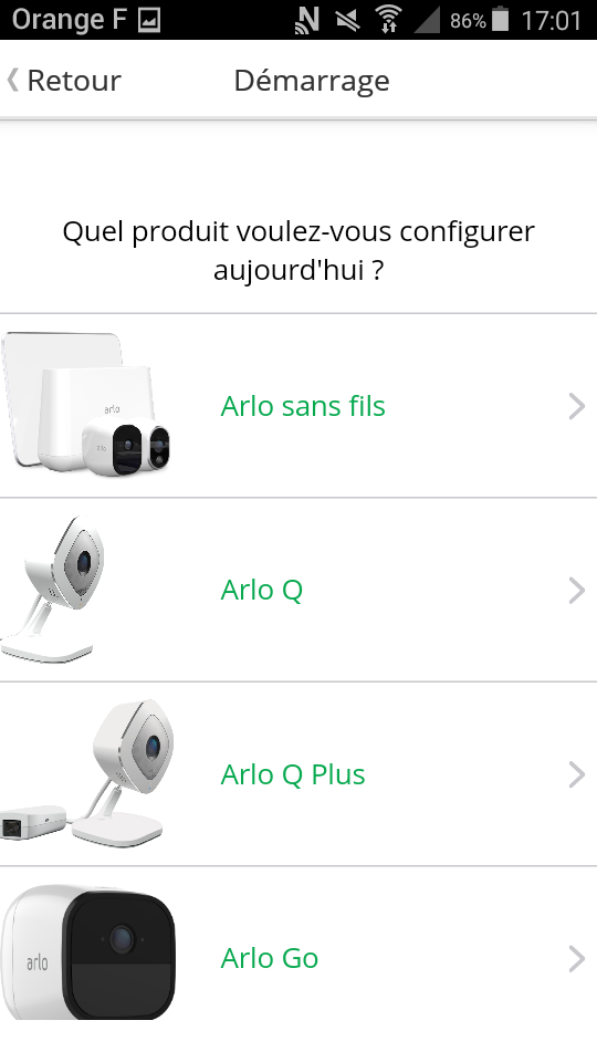 test arlo pro camera connectee application choix du modele
