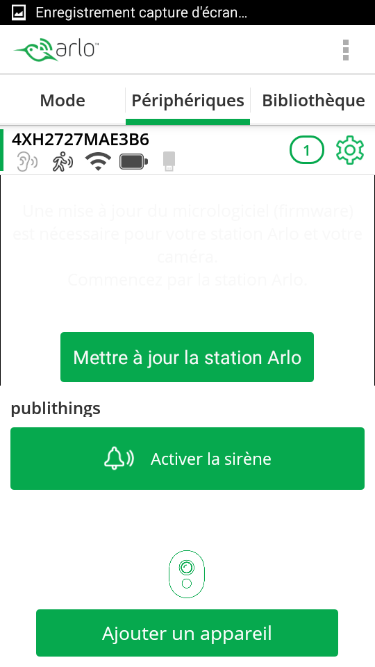 test arlo pro camera connectee application mise a jour