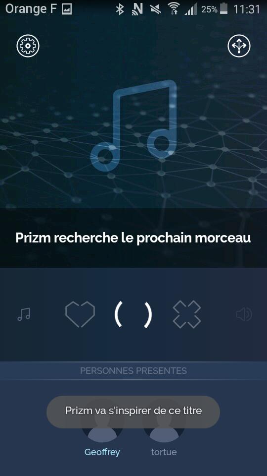 test prizm lecteur audio intelligent connecte application recherche morceaux
