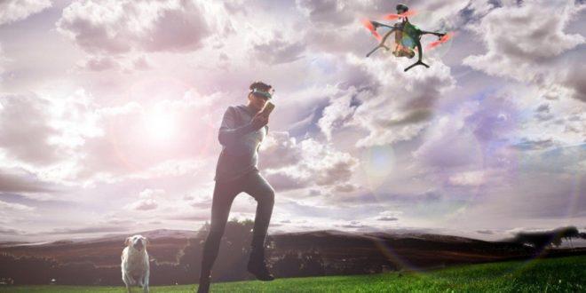 drone avec réalité virtuelle