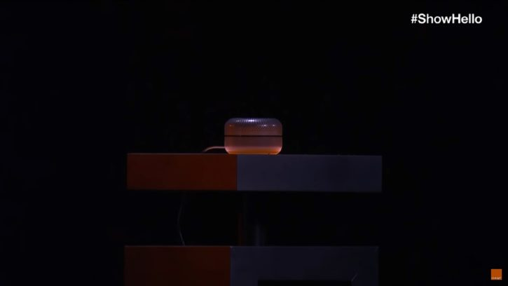djingo show hello orange enceinte connectee