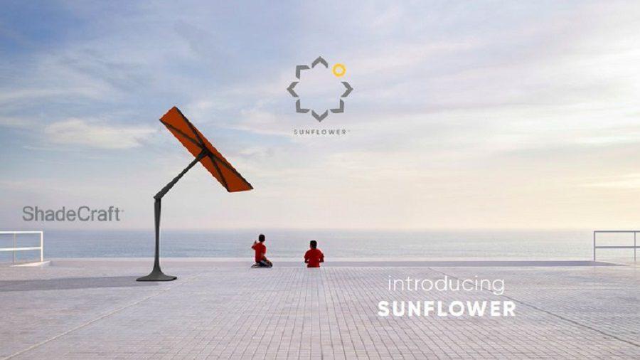 sunflower parasol connecté