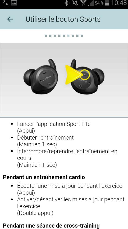 TEST Jabra Elite Sport Application interface ecouteurs