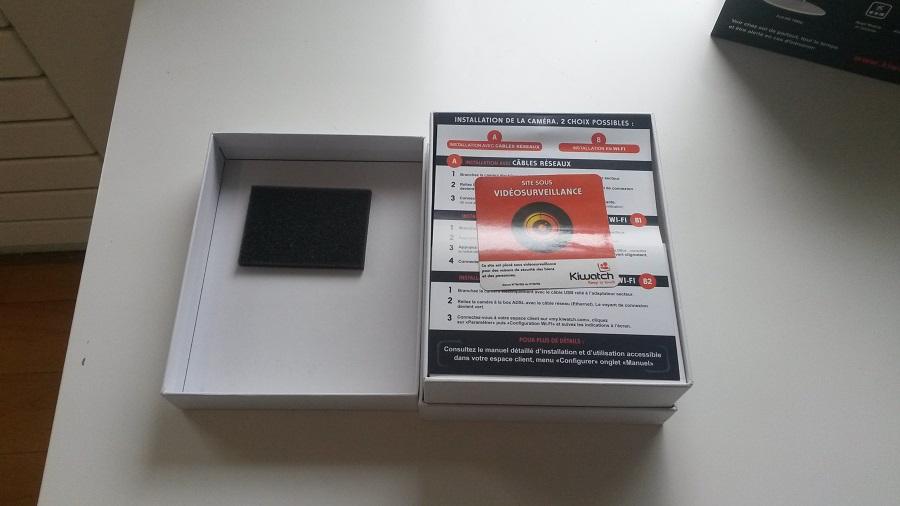 Test Kiwatch Intérieure Unboxing Boite ouverte