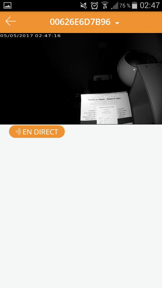 Test Kiwatch Intérieure Prise en main application nocturne