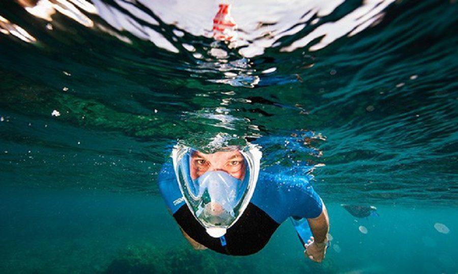 masque intégral de plongée 180° seaview