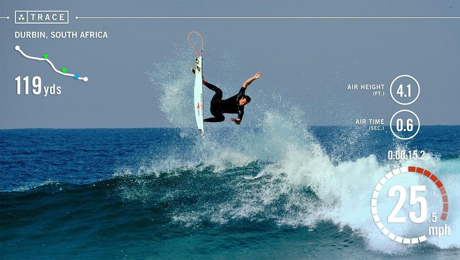 Trace capteur surf