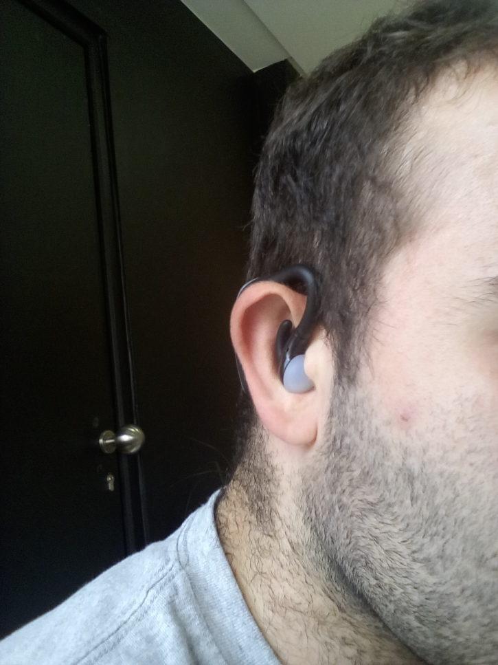 Test Beurer SL 70 Prise en min sur oreille