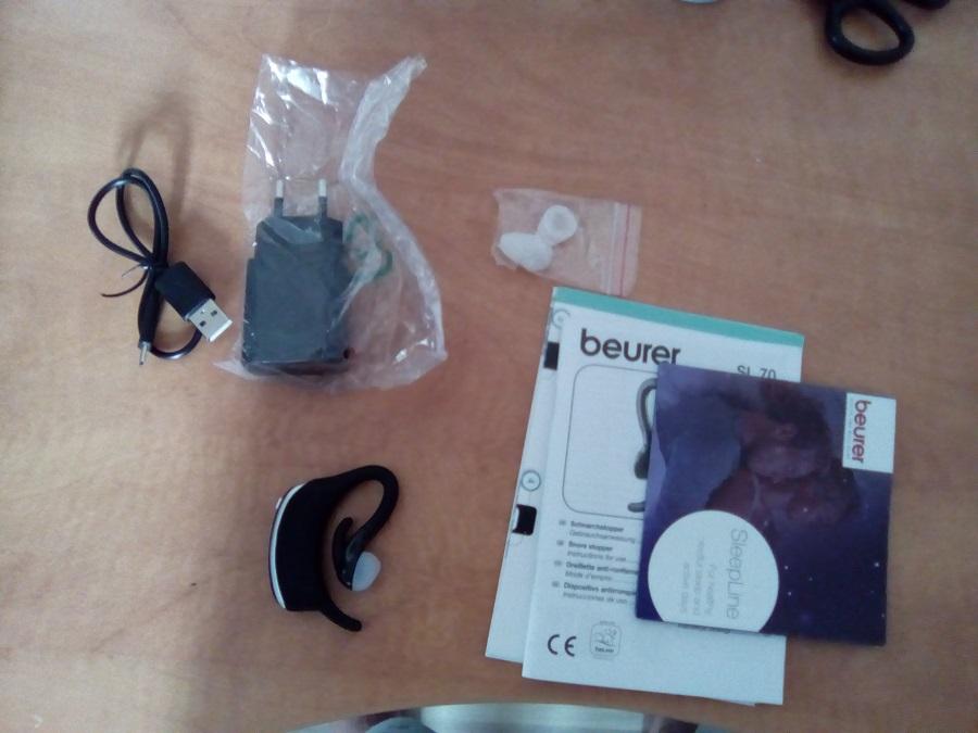 Test Beurer SL 70 Unboxing accessoires