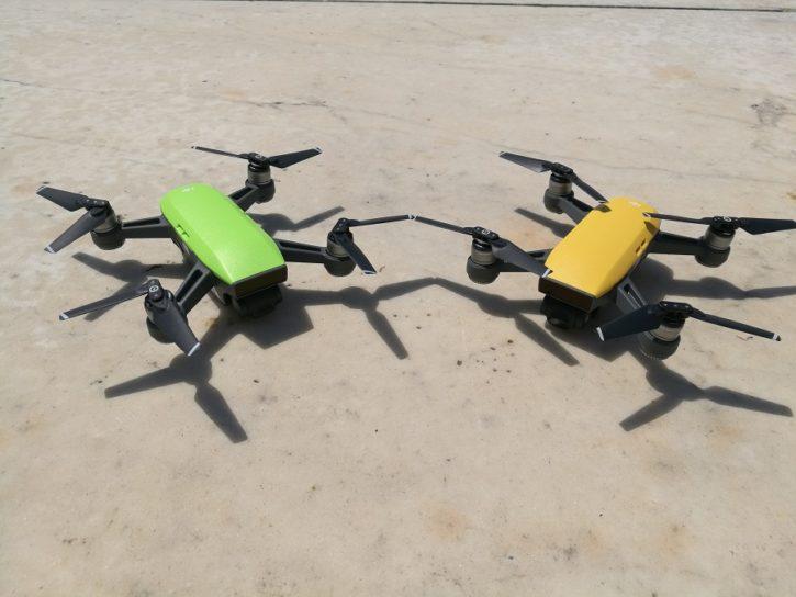 drones dji spark modeles couleur