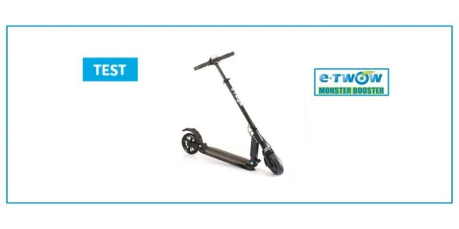 test e-twow booster trottinette connectee