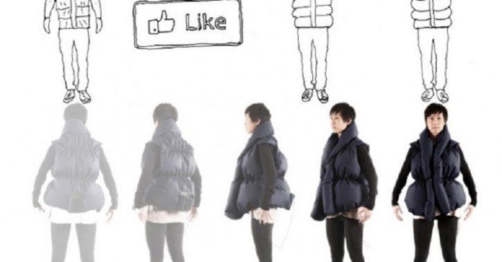 manteau connecté facebook