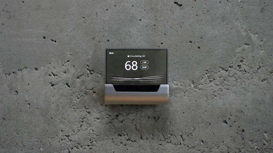 Thermostat connecté GLAS Miscrosoft Johnson Controls Cortana