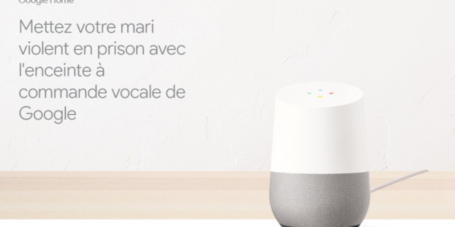 google homme appelle police mari violent assistant personnel enceinte connectée