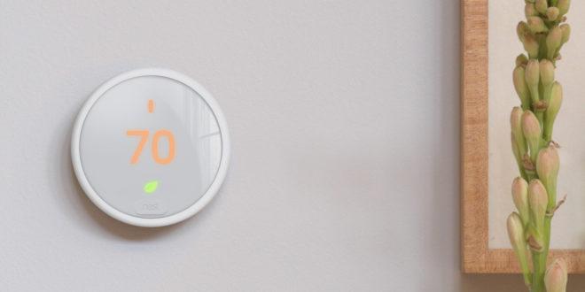 Nest Thermostat E design blanc