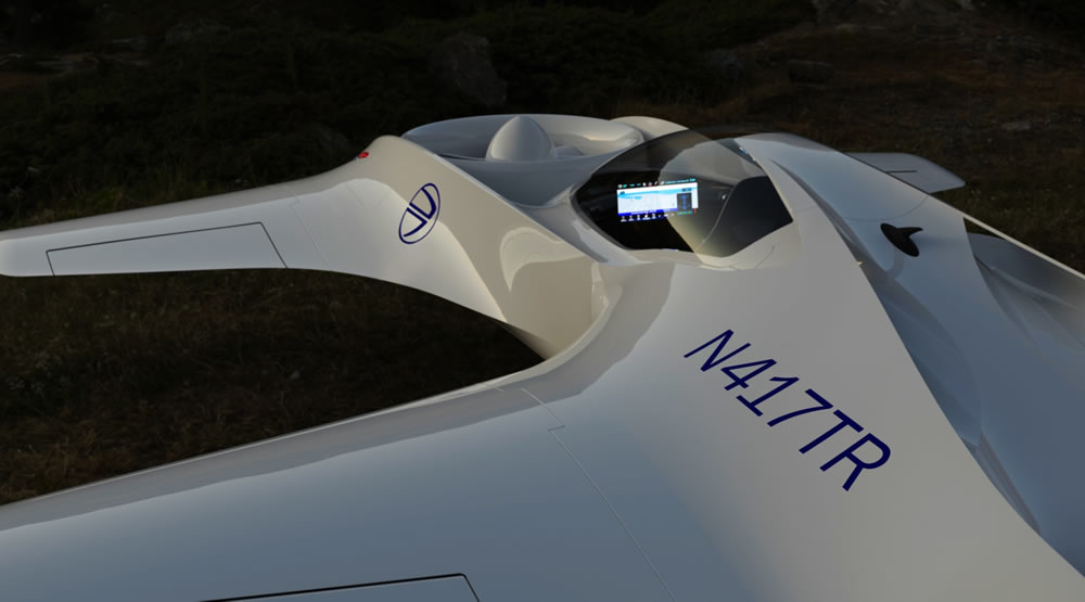 DeLorean volante prototype