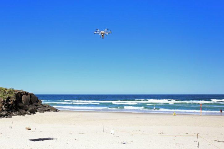 Drones anti-requins Australie plage