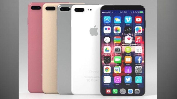 Iphone 8 leak HomePod reconnaisance faciale sans bord disparition bouton home