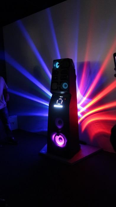 Enceinte connectée Sony appareil lumière