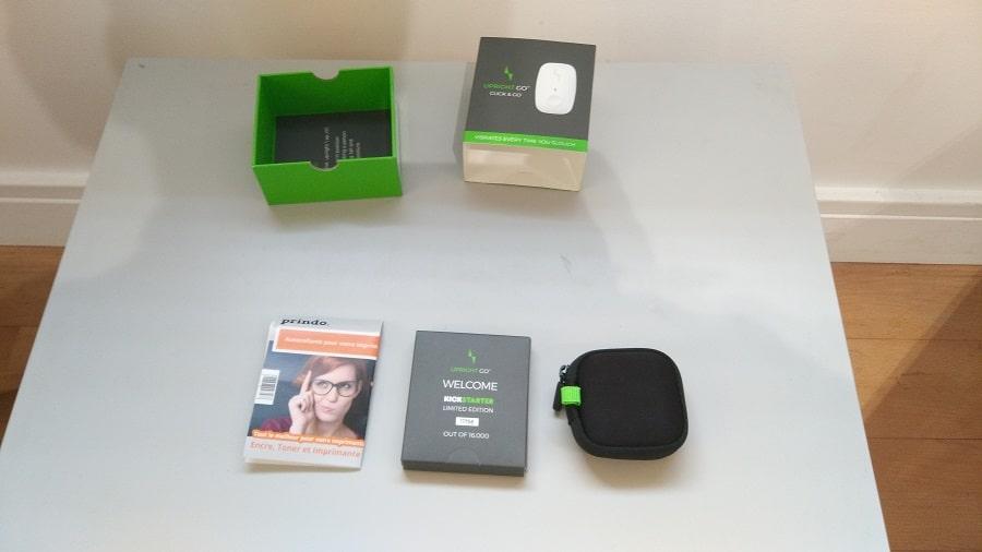 Test Upright Go Unboxing accessoires