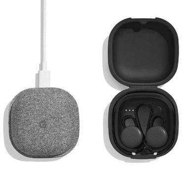 recharge socle boitier Google Pixel Buds ecouteurs connectes musique traduction instantanee autonomie stokage design prix